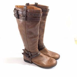 Born Gwynn Brown Boots Buckle Women Sz 9